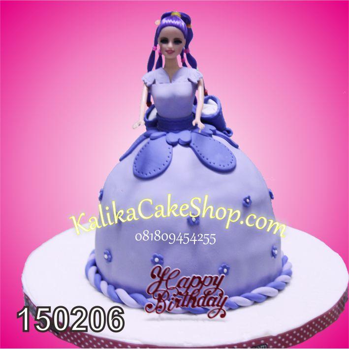 Kue Ulamg Tahun Barbie purple
