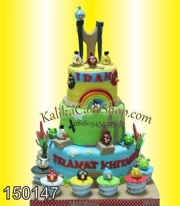 Kue Ulang Tahun Anggry Bird Idan