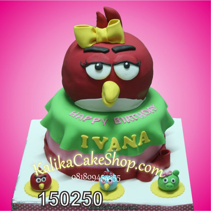 Kue Ulang Tahun Angry Bird Ivana