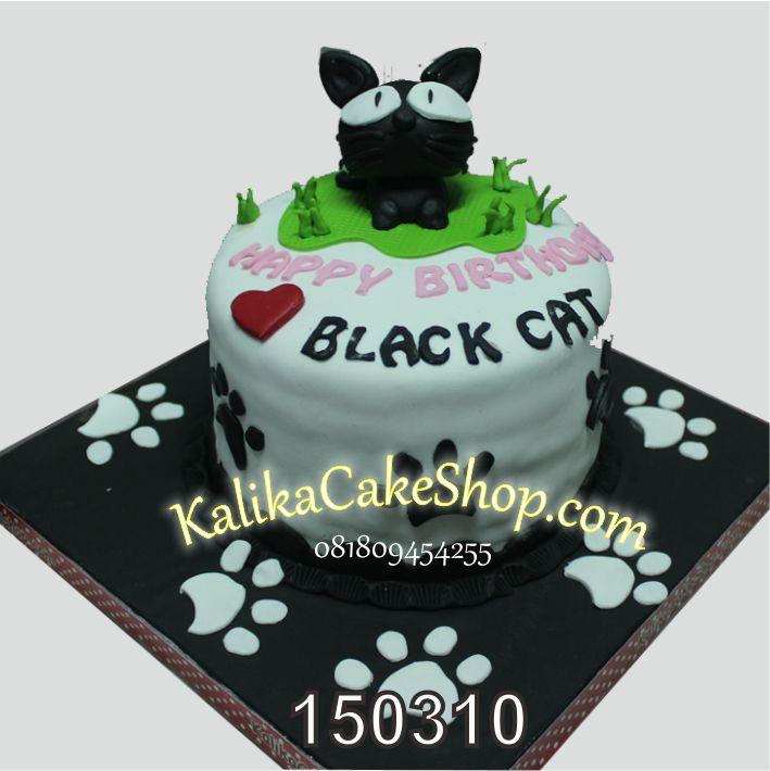 Kue Ulang Tahun Black Cat