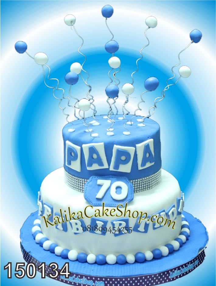 Kue Ulang Tahun Blue Papa