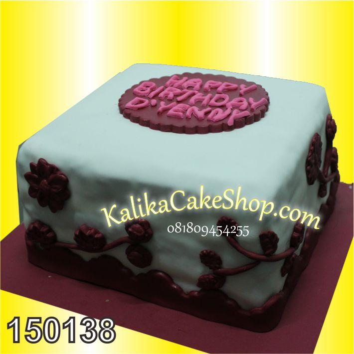 Kue Ulang Tahun Bunga Maroon