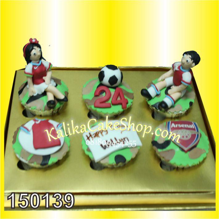 Kue Ulang Tahun Cup cake arsenal
