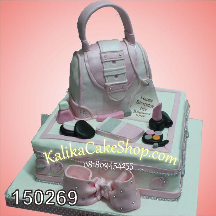 Kue Ulang Tahun Fashion Bag Pink