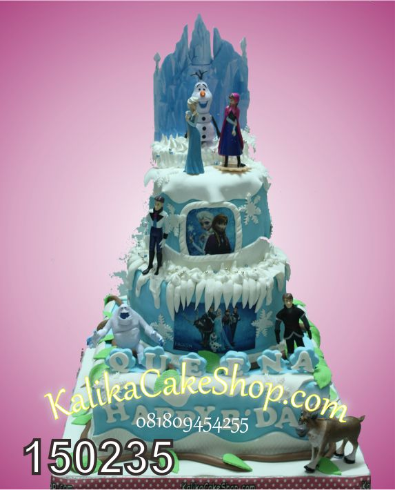 Kue Ulang Tahun Frozen 3 susun Queena