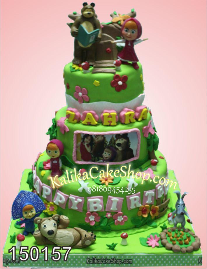 Kue Ulang Tahun Masha 3 Susun Zahra