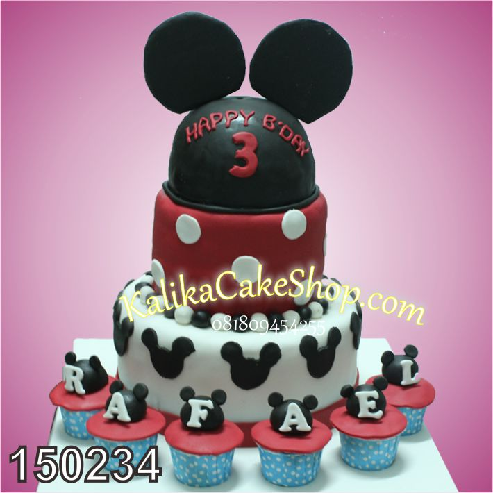 Kue Ulang Tahun Mickey Rafael