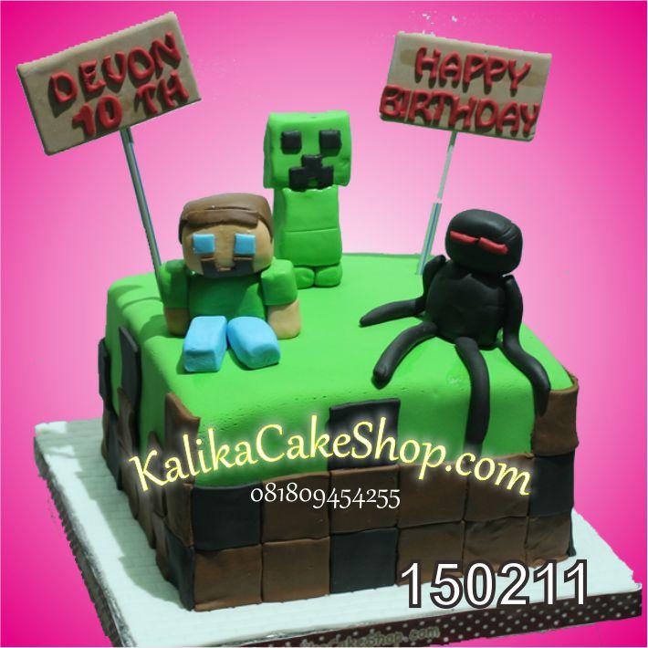 Kue Ulang Tahun Minecaraft Devon