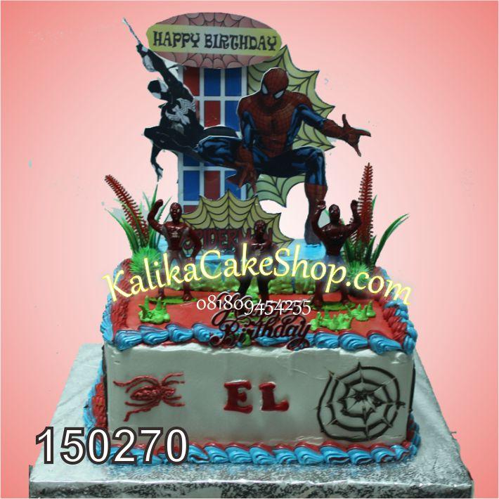 Kue Ulang Tahun Spiderman EL