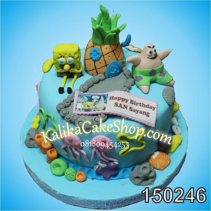 Kue Ulang Tahun Sponge Bob San
