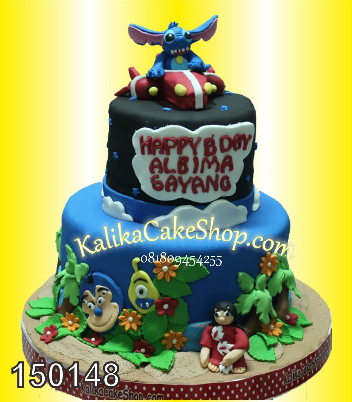 Kue Ulang Tahun Stich Albima