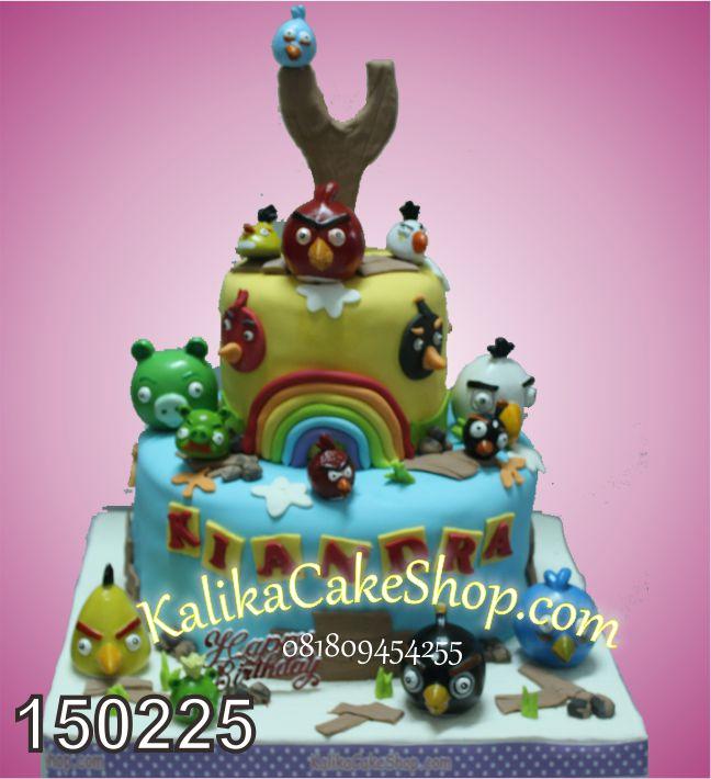 Kue Ulang Tahun angry bird 2 susun