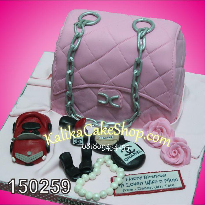 Kue Ulang tahun Channel Bag Pink