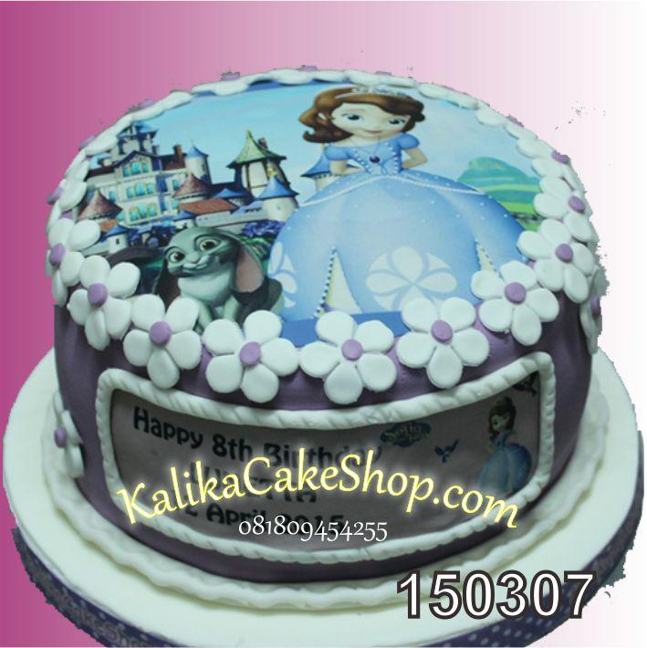 Kue Ulang tahun Edible Photo Sofia