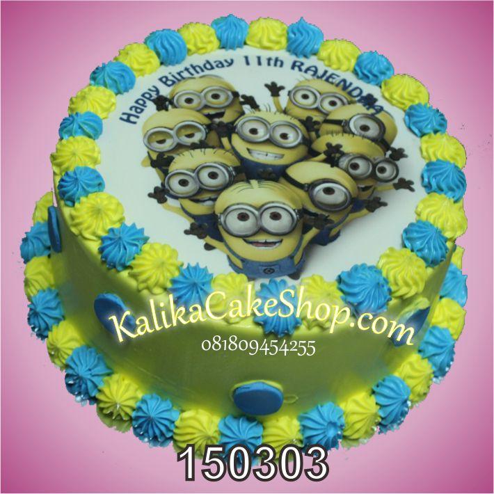 Kue Ulang yahun Edible Minion