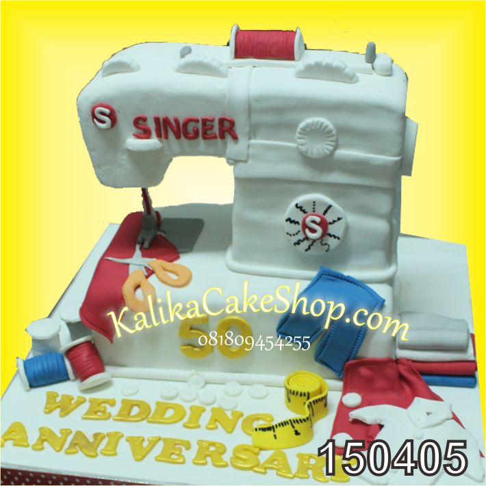 Kue Ulang Tahun Mesin Jahit Singer