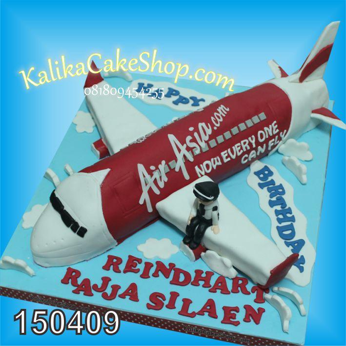 Kue Ulang Tahun Pesawat air Asia