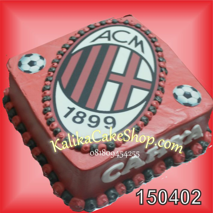Kue ulang Tahun Logo AC Milan