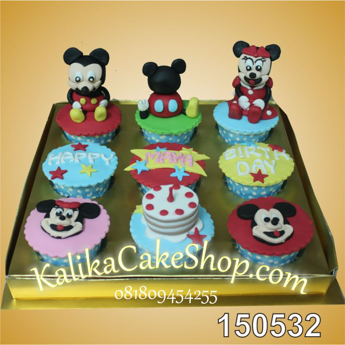 Cup Cake Set Mickey 9 pcs