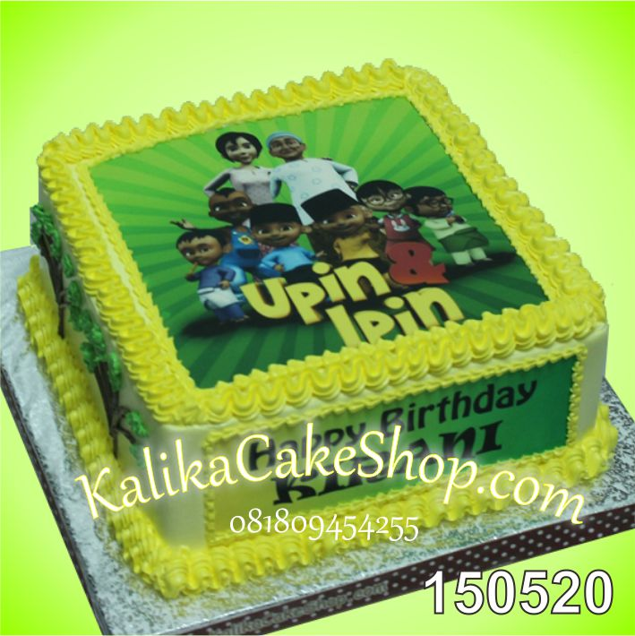 Kue Ulang Tahun Edible Photo Upin Ipin