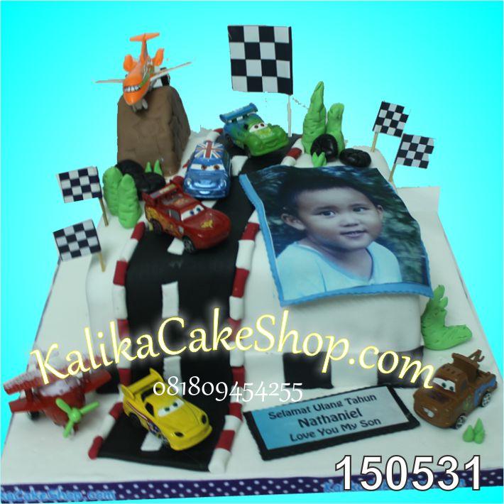 Kue Ulang tahun Cars Nathaniel