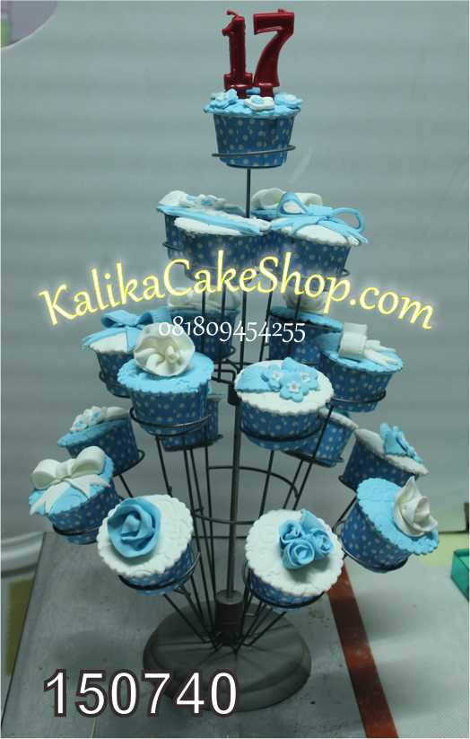 Cup Cake Blue 19pcs