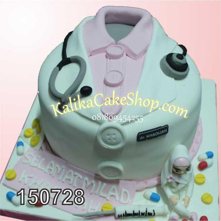 Kue Ulang Tahun Baju Dokter Pink