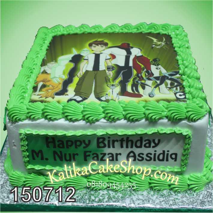 Kue Ulang Tahun Edible Photo Ben 10
