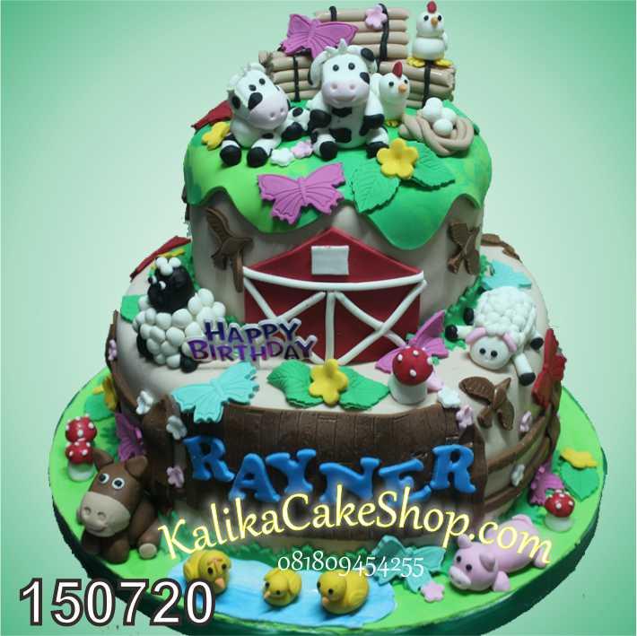 Kue Ulang Tahun Farm 2 Susun