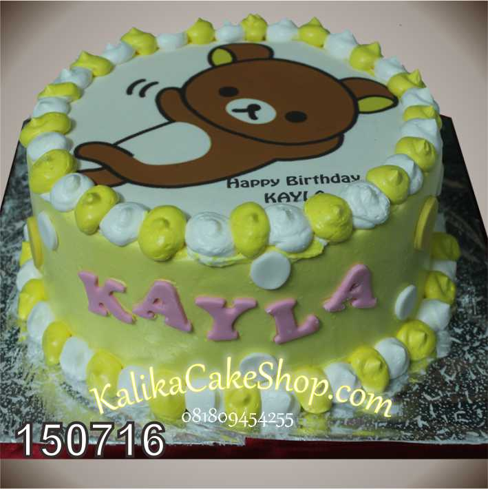 Kue Ulang Tahun Photo Rilakuma