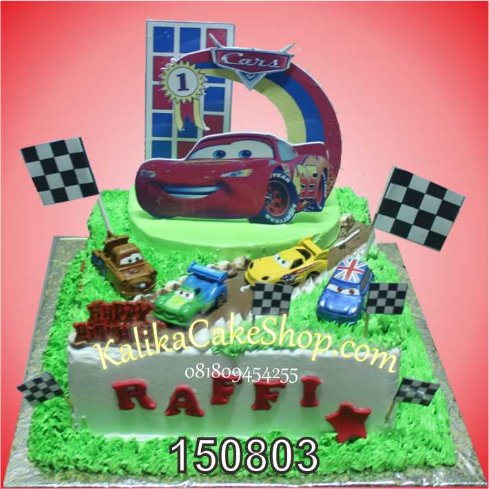 Kue Ulang Tahun Cars Raffi