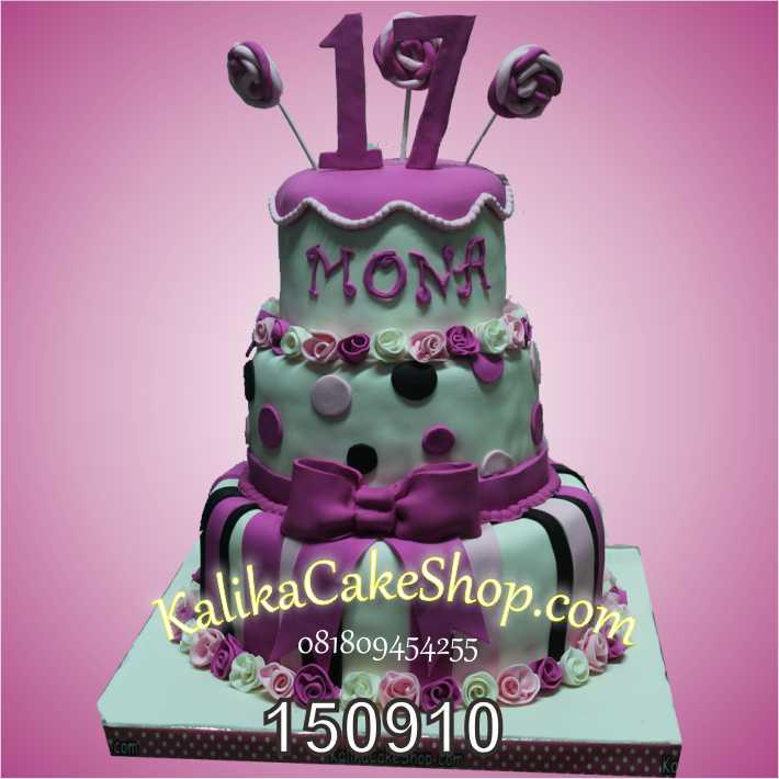 Kue Ulang Tahun Sweet 17 Mona
