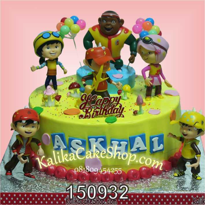 Kue Ulang Tahun Boboiboy Askhal