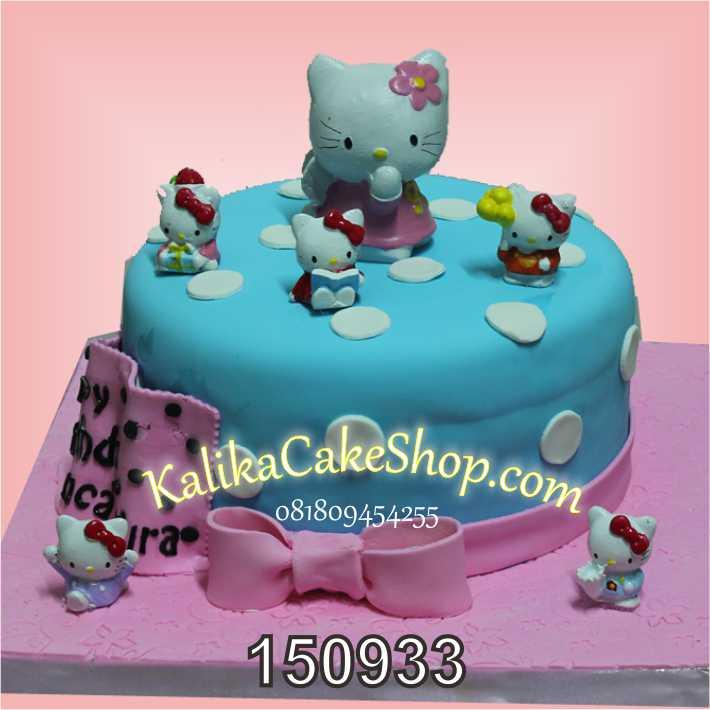Kue Ulang tahun HelloKitty Blue Pink