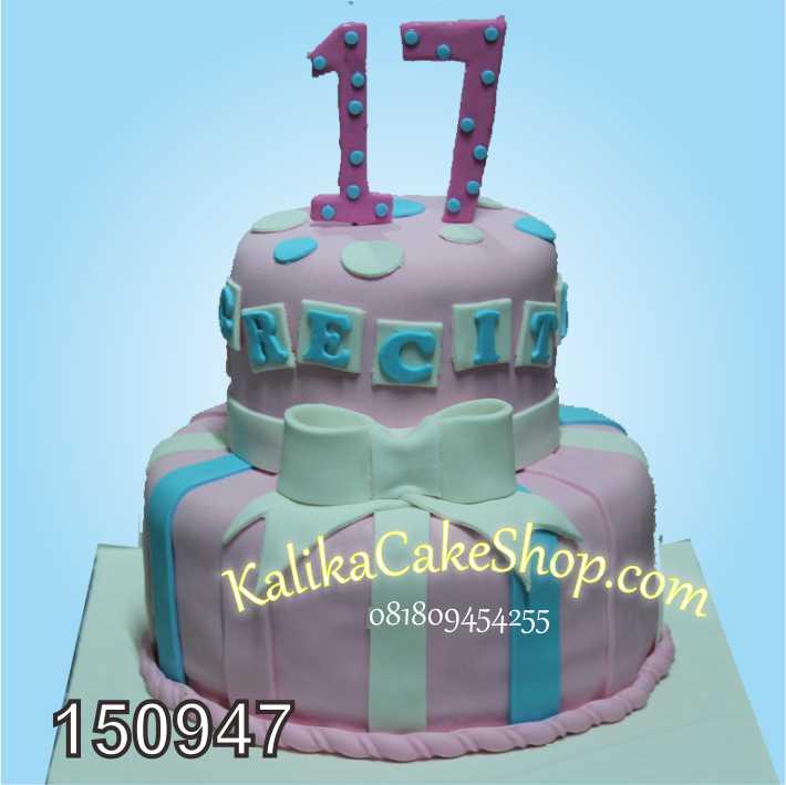 Sweet 17 Cake 2 susun
