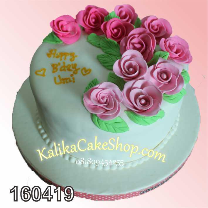 cake custom flower bunda