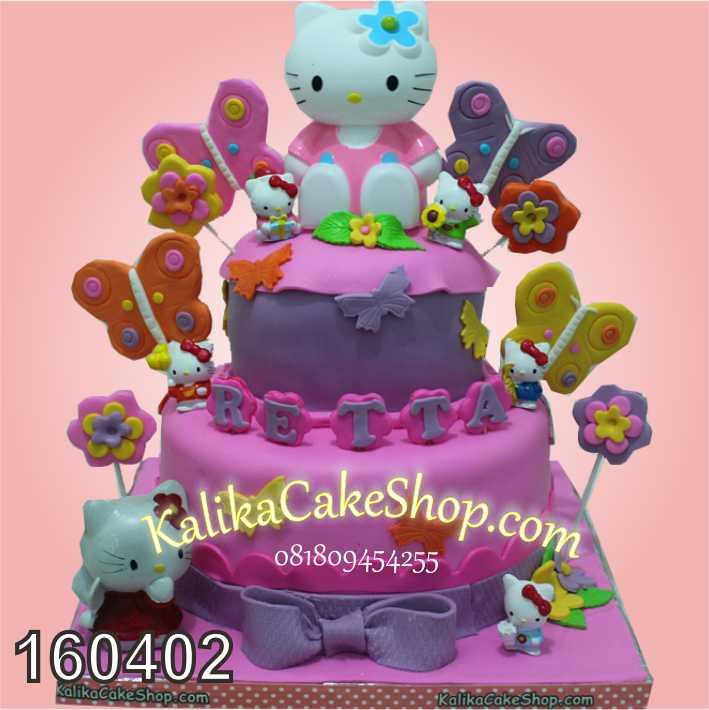 cake hello kitty 2 susun retta