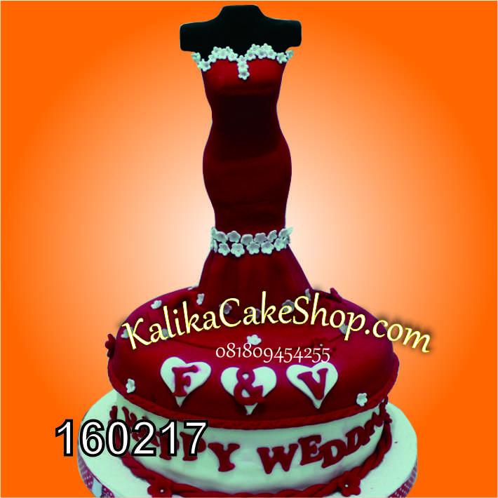 kue gaun merah