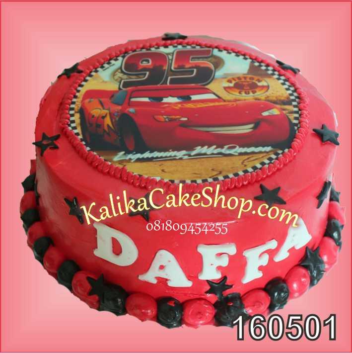Edible Photo Cake Cars Mcqueen