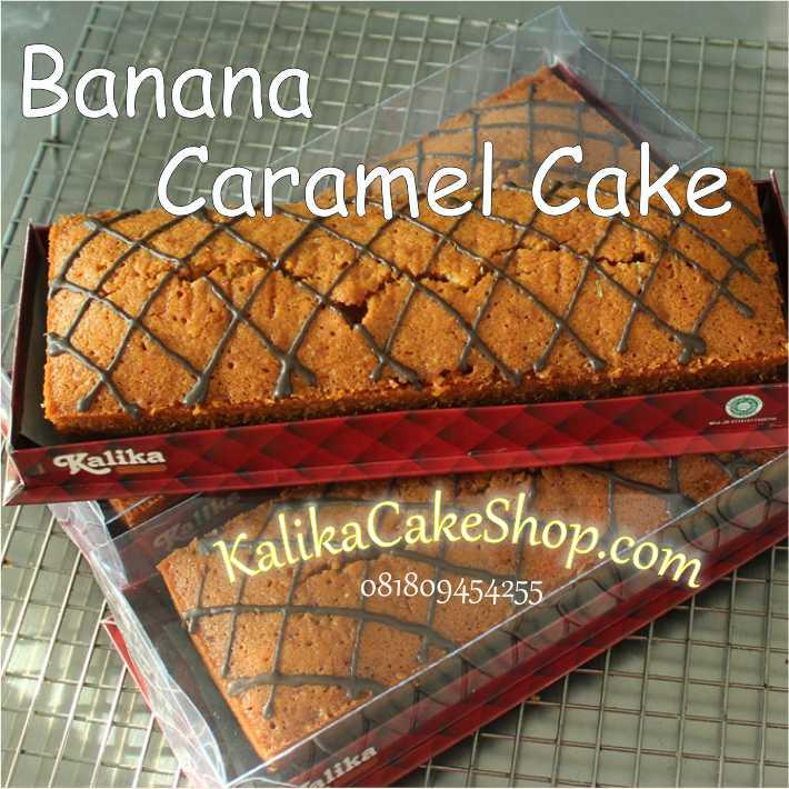 banana caramel cake