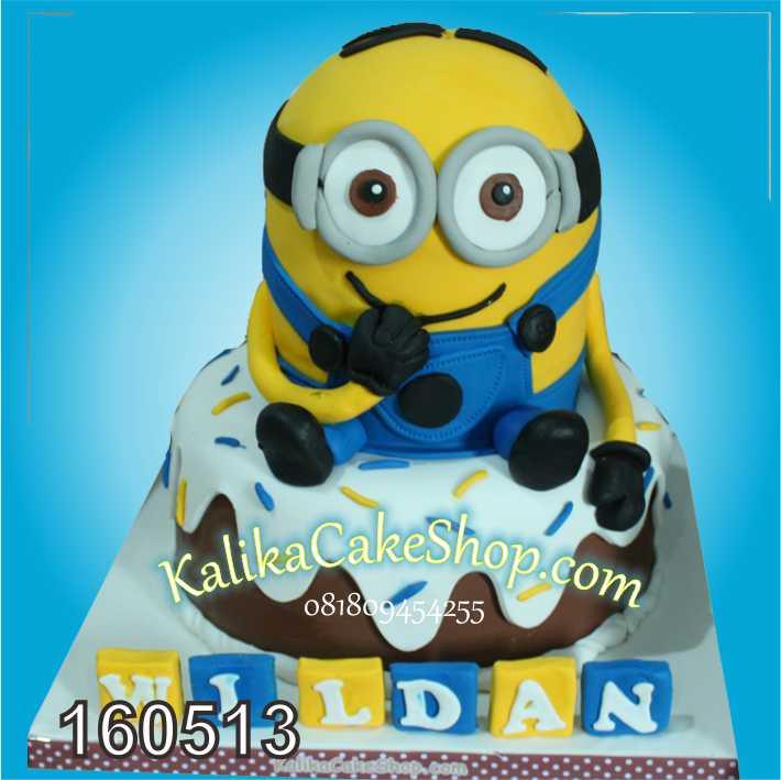 kue Ulang tahun minion wildan