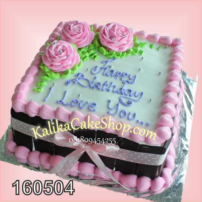 kue ulang tahun flower pink