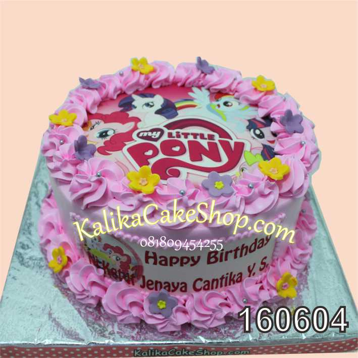 Cake Ulang Tahun Litle Pony Jenaya