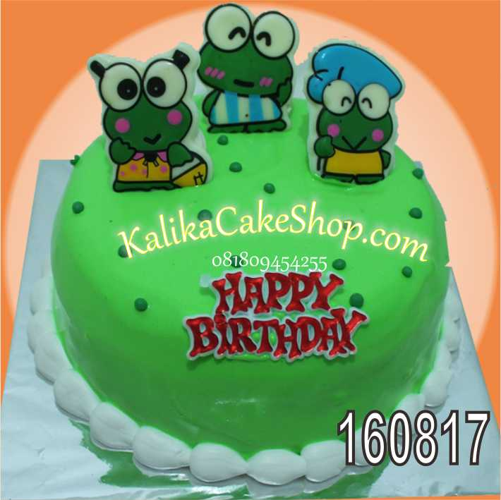 cakecoklatkarakterkeroppy Kue Ulang Tahun bandung