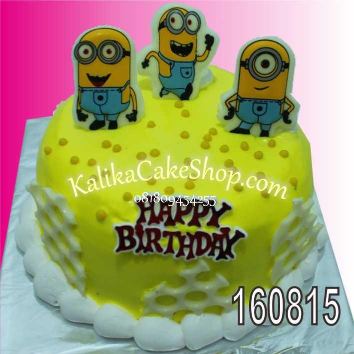 cake-coklat-karakter-minion