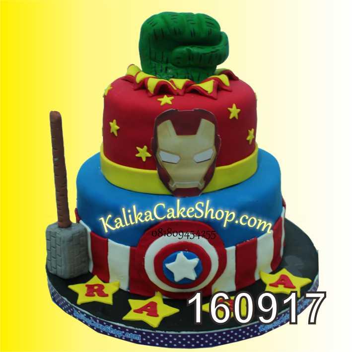 cake Ulang Tahun iron man raga