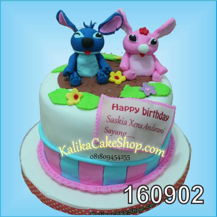 Cake Ulang Tahun Stich Saskia