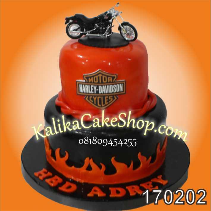Cake Ulang Tahun Harley 2 susun Adrey