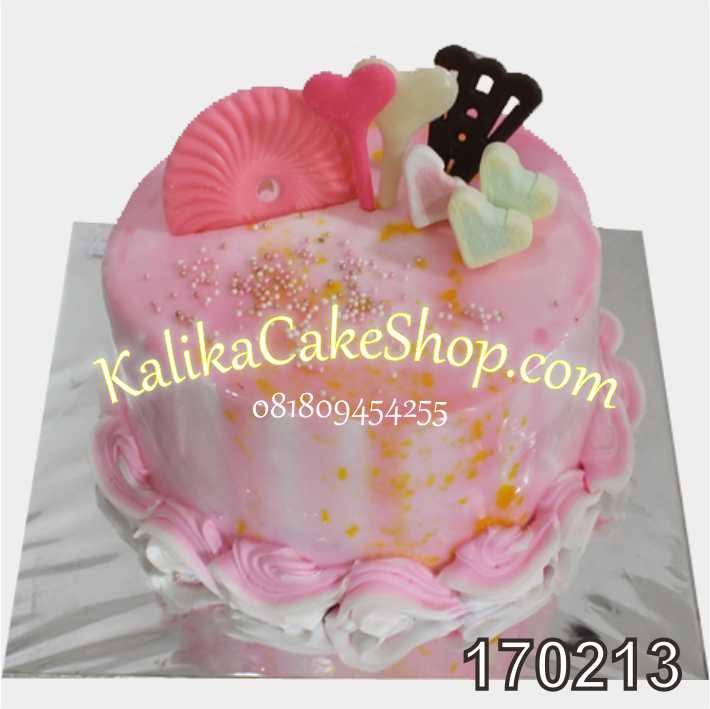 Cake Ulang tahun Choco pink