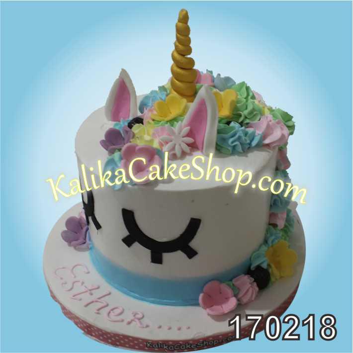 Cake Ulang tahun Unicorn Esther